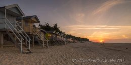 Wells beach as the sun sets 2