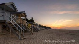 Wells beach as the sun sets 3