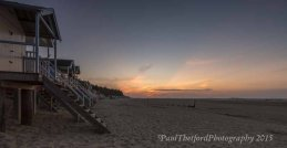 Wells beach as the sun sets 4