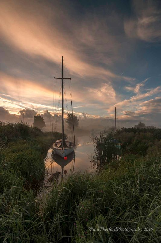 Misty dawn Norfolk Broads 2