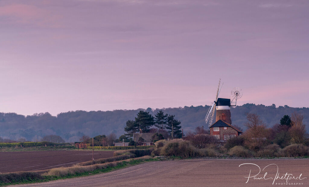 Weybourne Mill across the fields 2