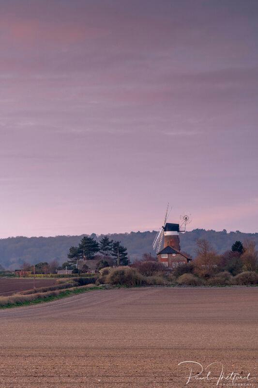 Weybourne Mill across the fields 3