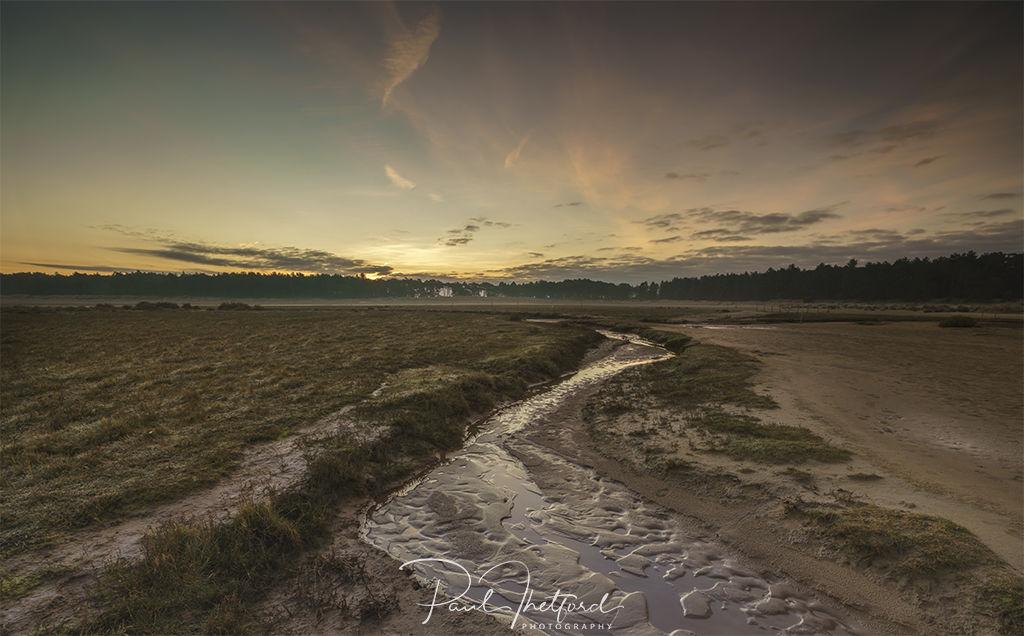 Looking back Norfolk coast