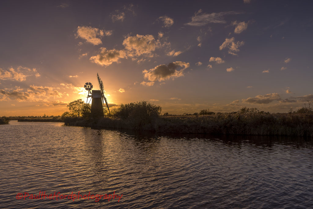 Turf Fen Mill sunset