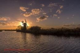 Turf Fen Mill sunset