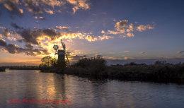 Turf Fen Mill sunset 2