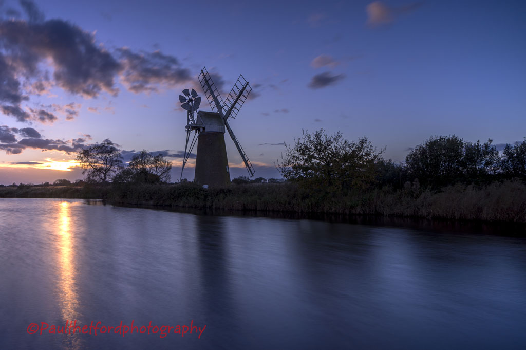 Turf Fen Mill sunset 4