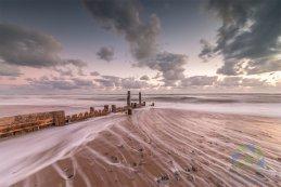 Mundesley incoming tide