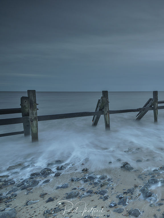 High tide West Runton Beach