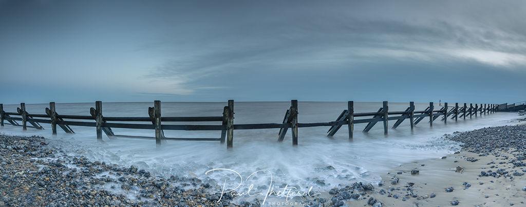 High tide West Runton Beach 2