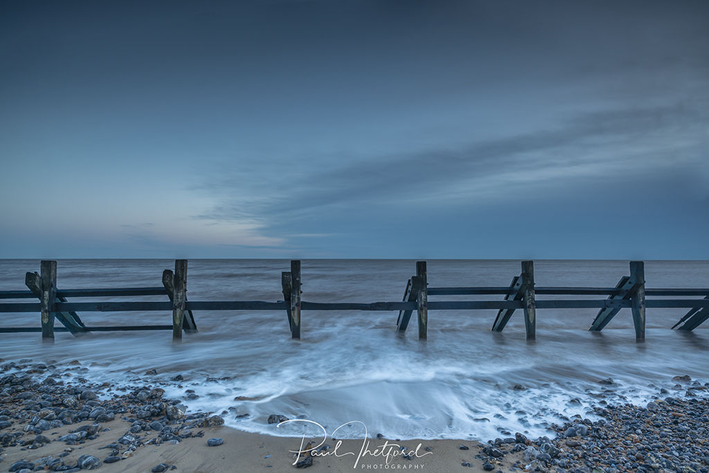 High tide West Runton Beach 3