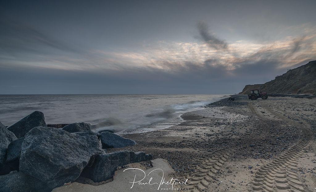 High tide West Runton Beach 7