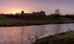 Alnwick Castle sunset 2