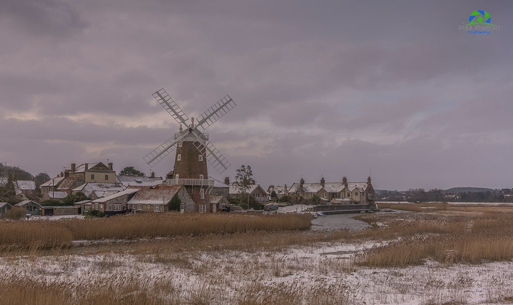 Across the marsh, Cley Mill 3