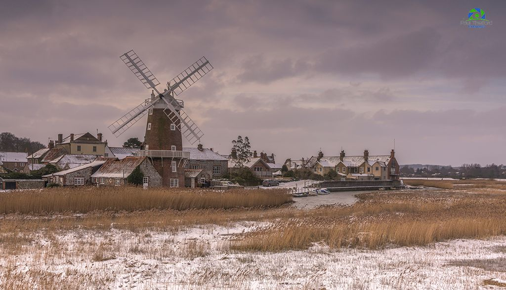 Across the marsh, Cley Mill 4