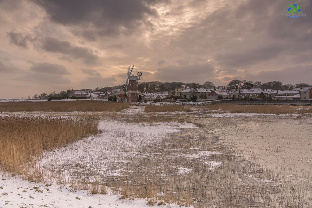 Across the marsh, Cley Mill 2