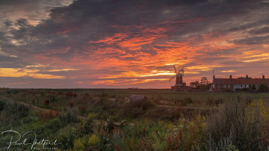Cley Mill Summer sunrise 3