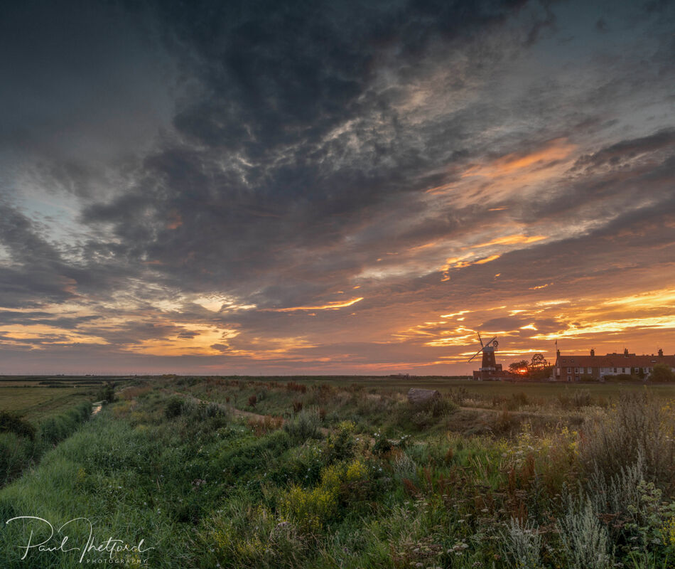 Cley Mill Summer sunrise