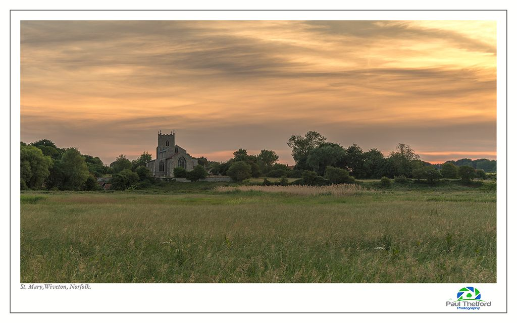 Wiveton Church across the Marsh