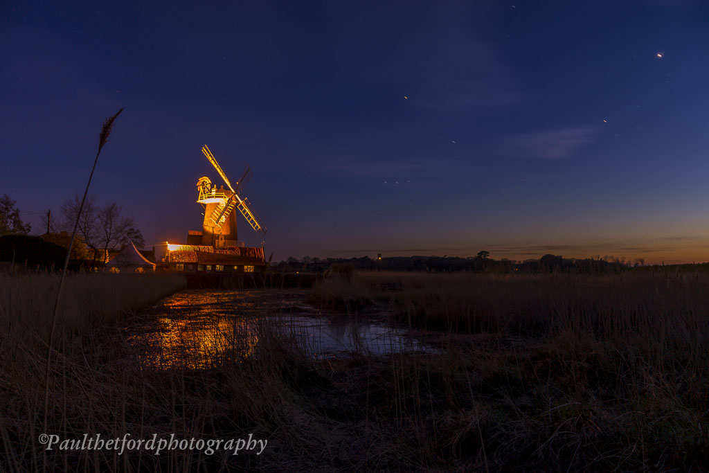 Cley mill under the stars 3