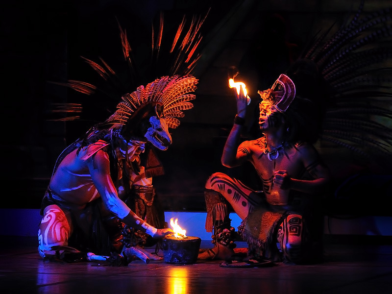 Maya Dance of Fire