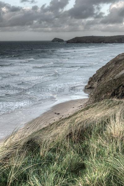 North Cornish coast near St. Agnes.
