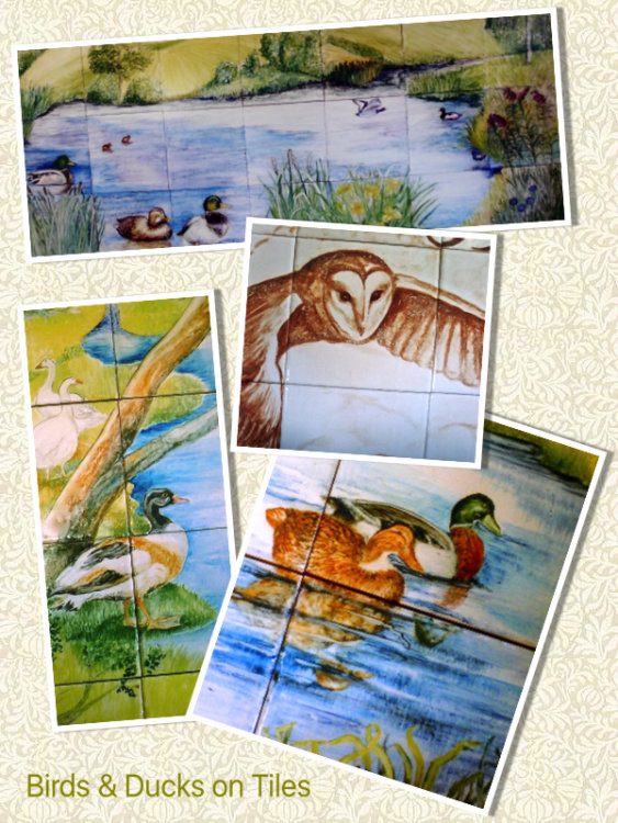 Birds & Ducks on Tiles