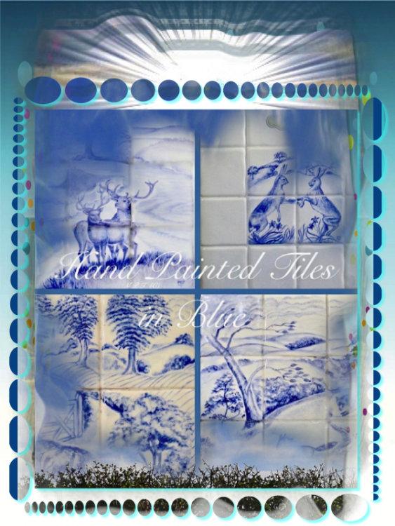 Tiles in Blue