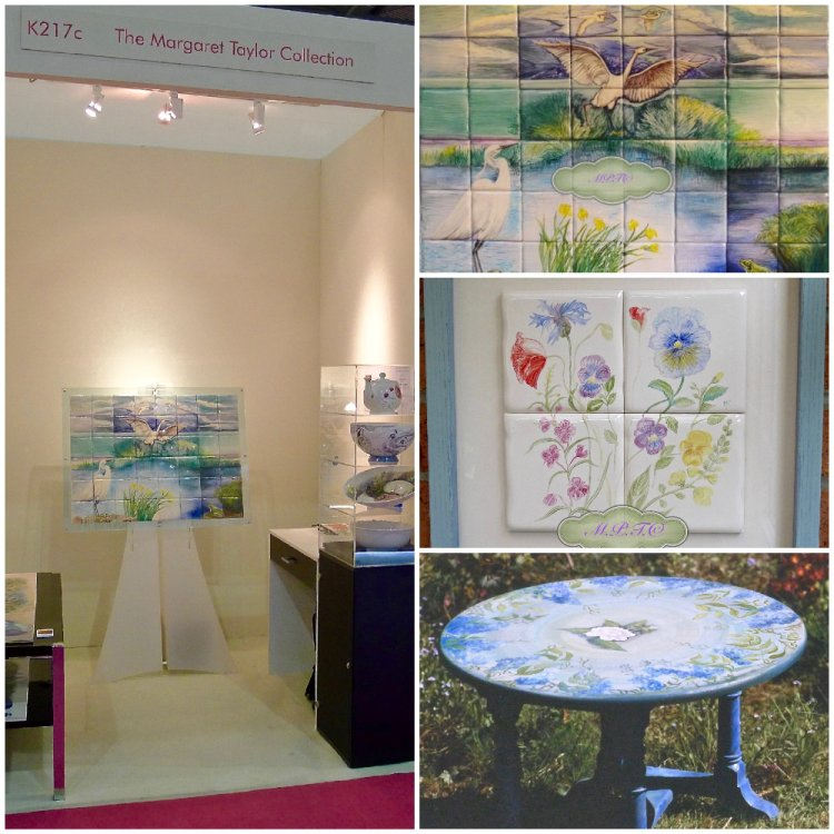 "Artwork on Exhibition ""Grand Designs"" 2013 (left) Tiles & Furniture (right)"
