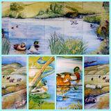 Ducks on Murals and Tile Murals