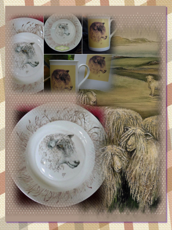 "Original Hand Painted China Bowl. Design Printed on tiles & Mugs. View Oil painting click on ""Drawings and Paintings"" Gallery"