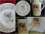 Printed Mugs £7.99 each. Print taken from original hand painted Bowl. £5. P&P