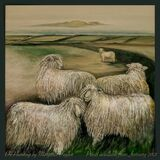 'The Lamb' Oil Painting by Margaret Taylor. Prints available from January 2021.