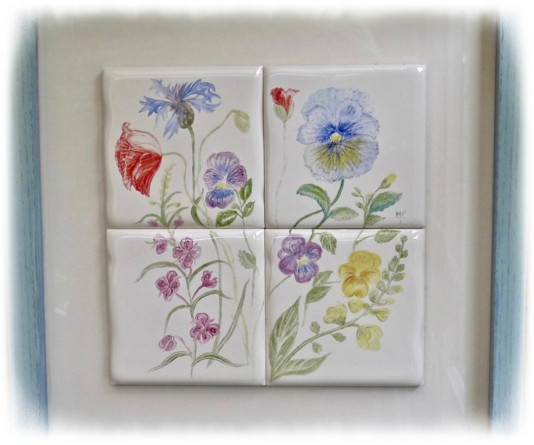 Unique Late Spring Tile Picture Price £80.00 + £10.00 P&P