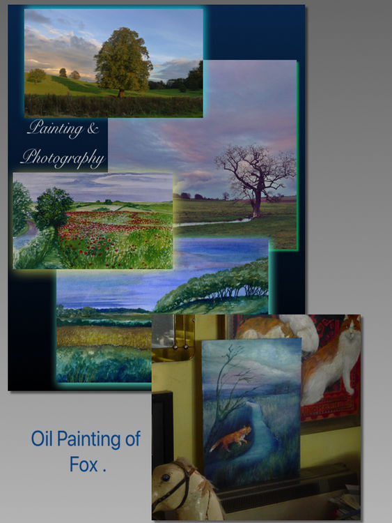 Painting & Photography + Oil Painting of the Fox