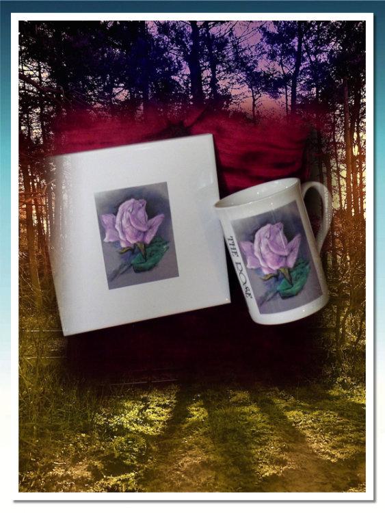 'Rose' Tile & Mug £19.99.