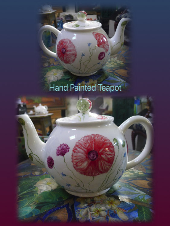Hand Painted Teapot £75.00  incl p&p