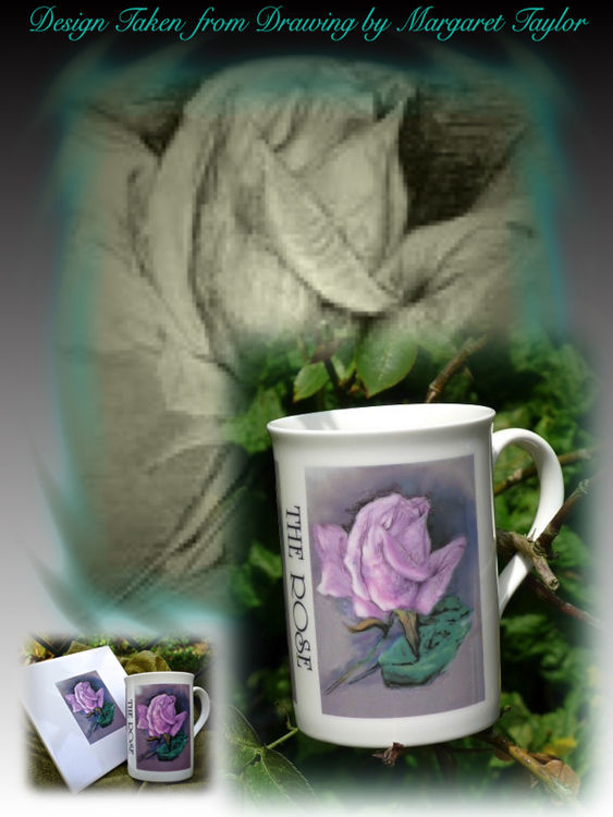 Limited Edition Printed Rose Mugs £7.99 Each + £5. P&P