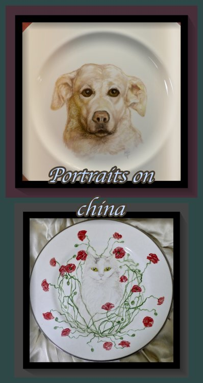 Bespoke commissioned Portrait Plates. Portraits require complex painting to achieve a likeness.