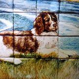 Detail of Dog on Tile Mural