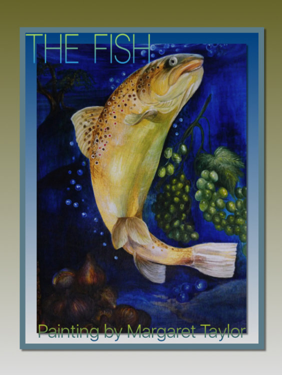 'The Fish' Painting on Wood. N.F.S.