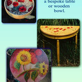 Past Commissions. Hand Painted Table Tops