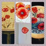 Always Poppies. Wood. Canvas, China & Canvas