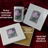 'Rose' Tile & Mug £15.00