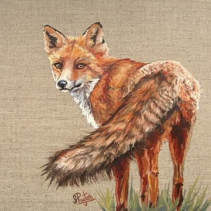 Fox on linen Workshop - Saturday October 19th 10am - 4pm