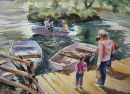Boating lake, Avon Valley. SOLD
