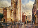 Passing Rain, Bristol University - SOLD