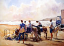Donkey rides, Weston beach. SOLD