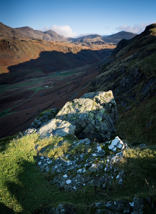 Scafell from Hardknott fort