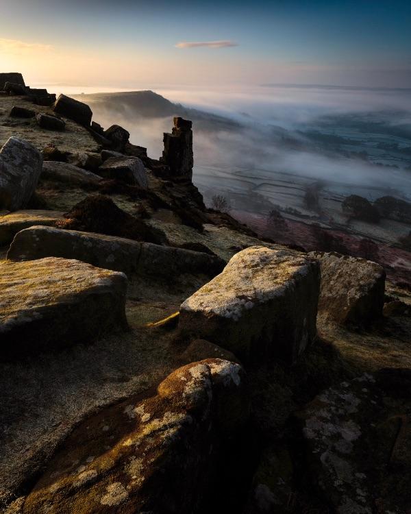 Dawn on Curbar Edge